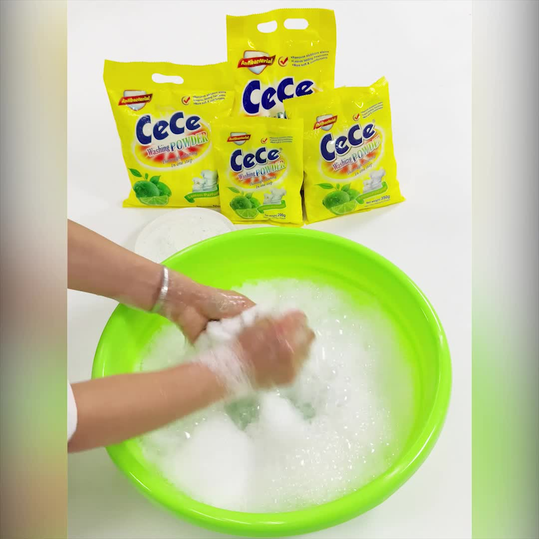 OEM brand detergent powder washing powder  with Strong decontamination from guangdong factory plant