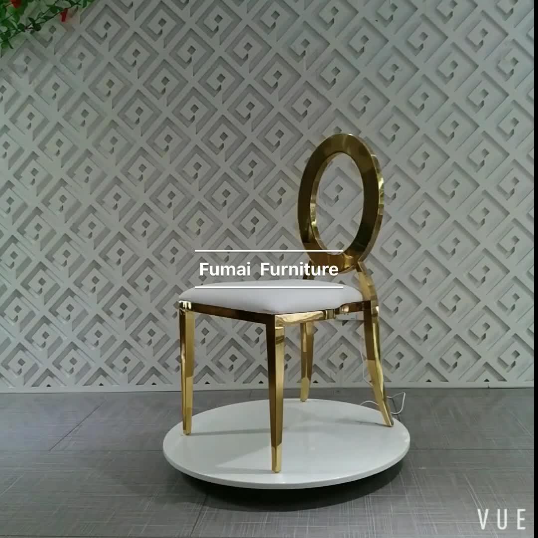 Oro cobre respaldo boda Hotel silla trono muebles