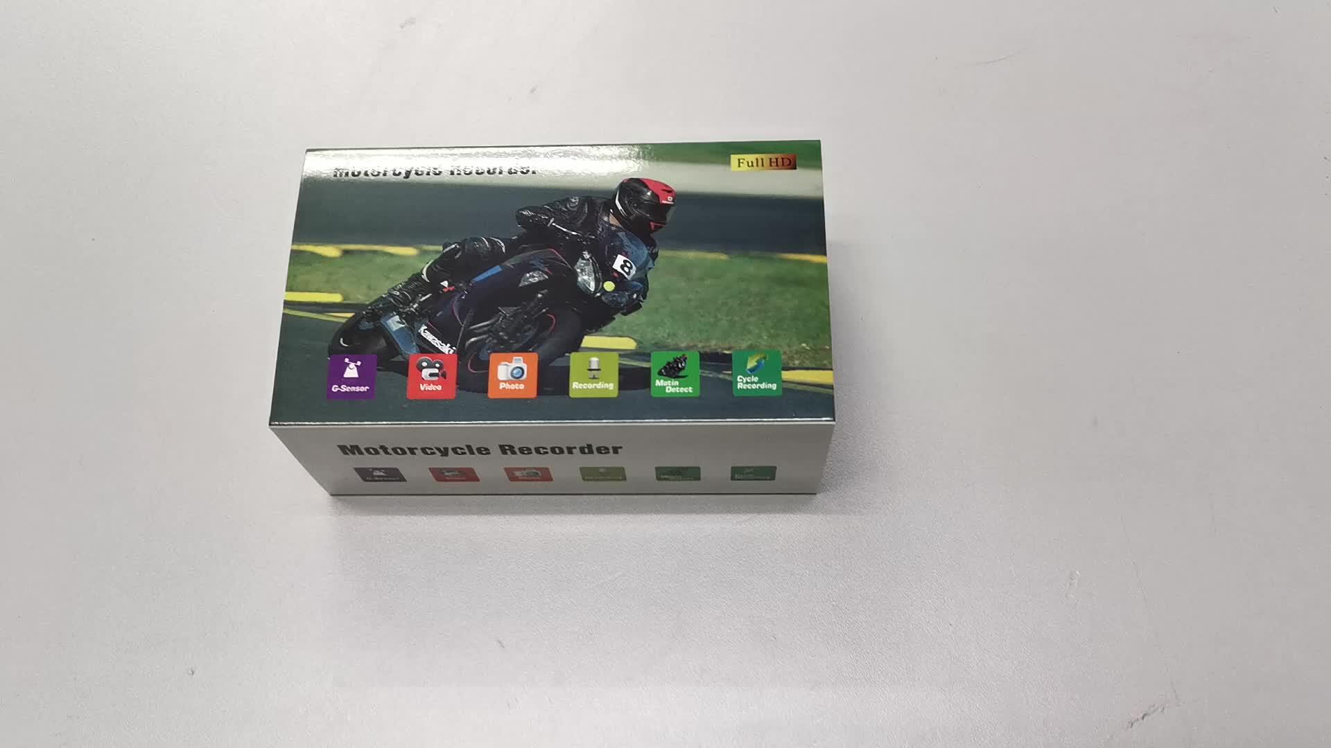 720 P HD 듀얼 렌즈 3 인치 오토바이 주차 모드 G-센서 기능
