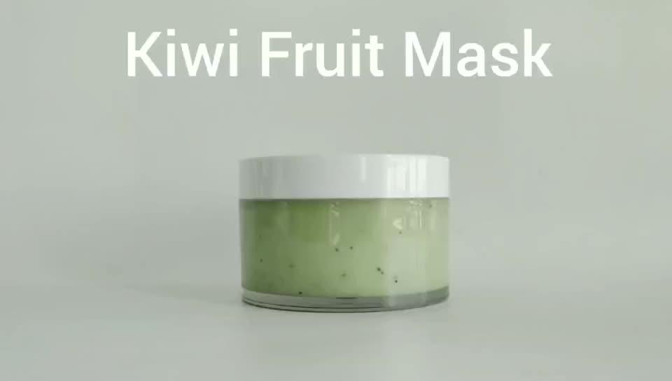 New Private Label Face Hyaluronic Acid Kiwi Fruit Mask Moisturizer