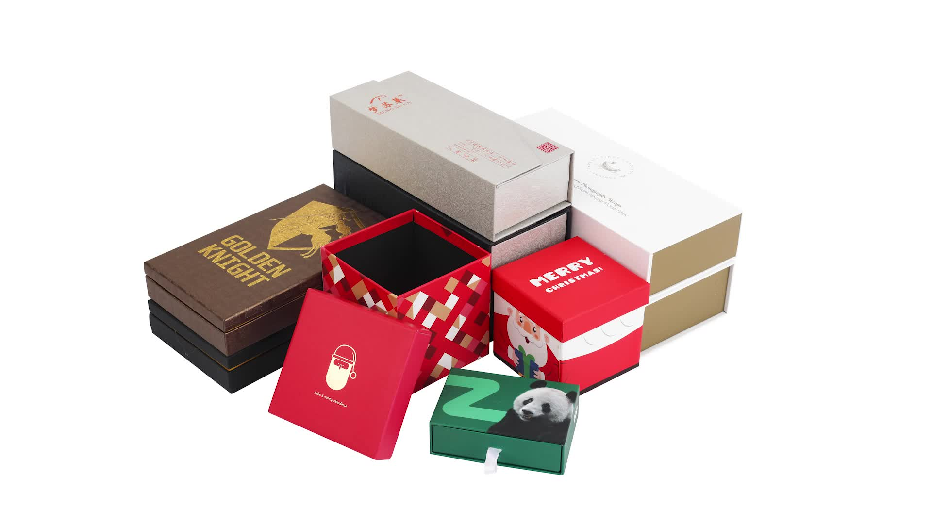 Custom pull out paper cardboard carrying gift box with handle