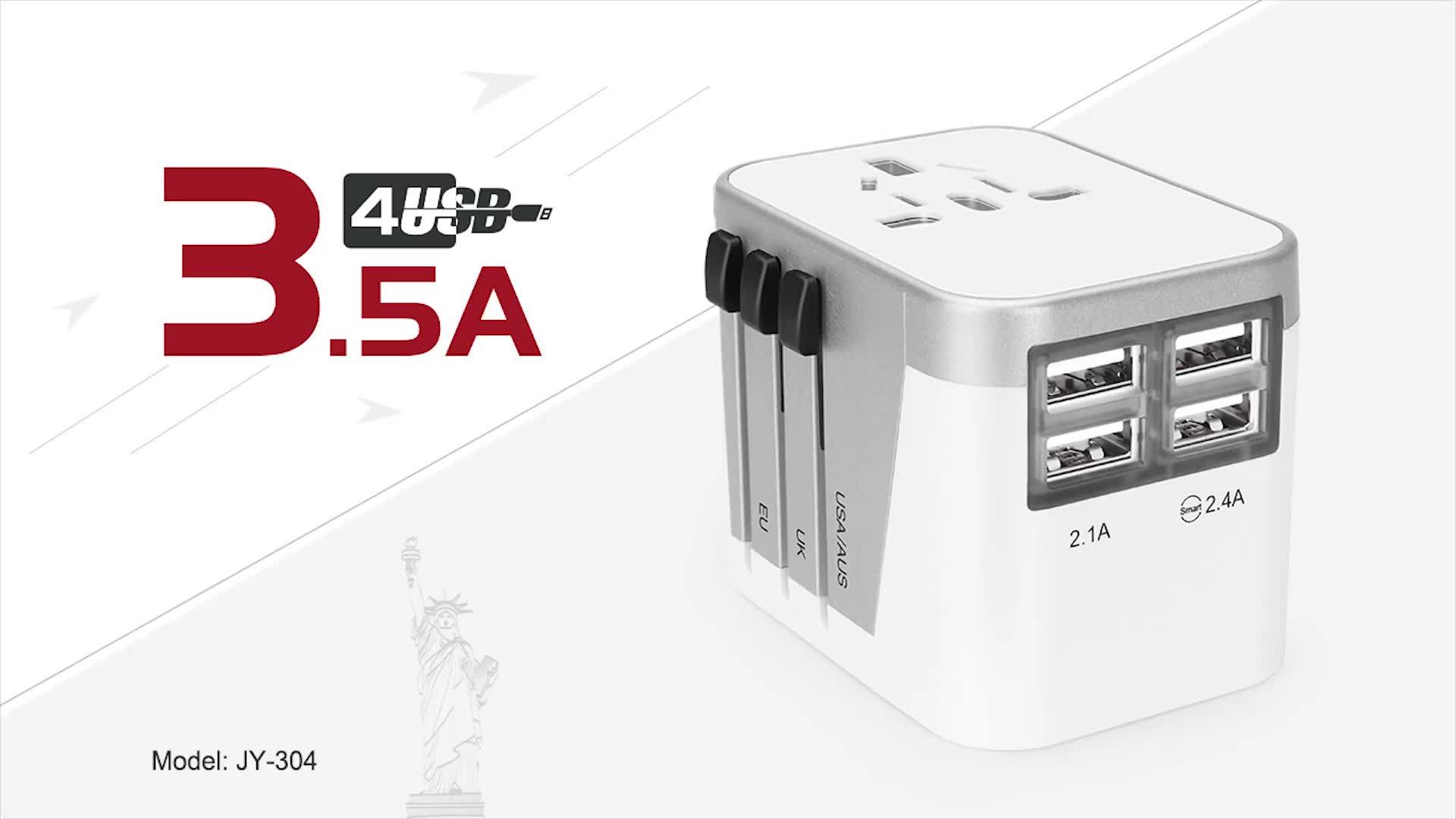 Yeni Özel Paket 4USB AC Adaptör güç Adaptörü Evrensel Adaptör Akıllı Fiş Şarj