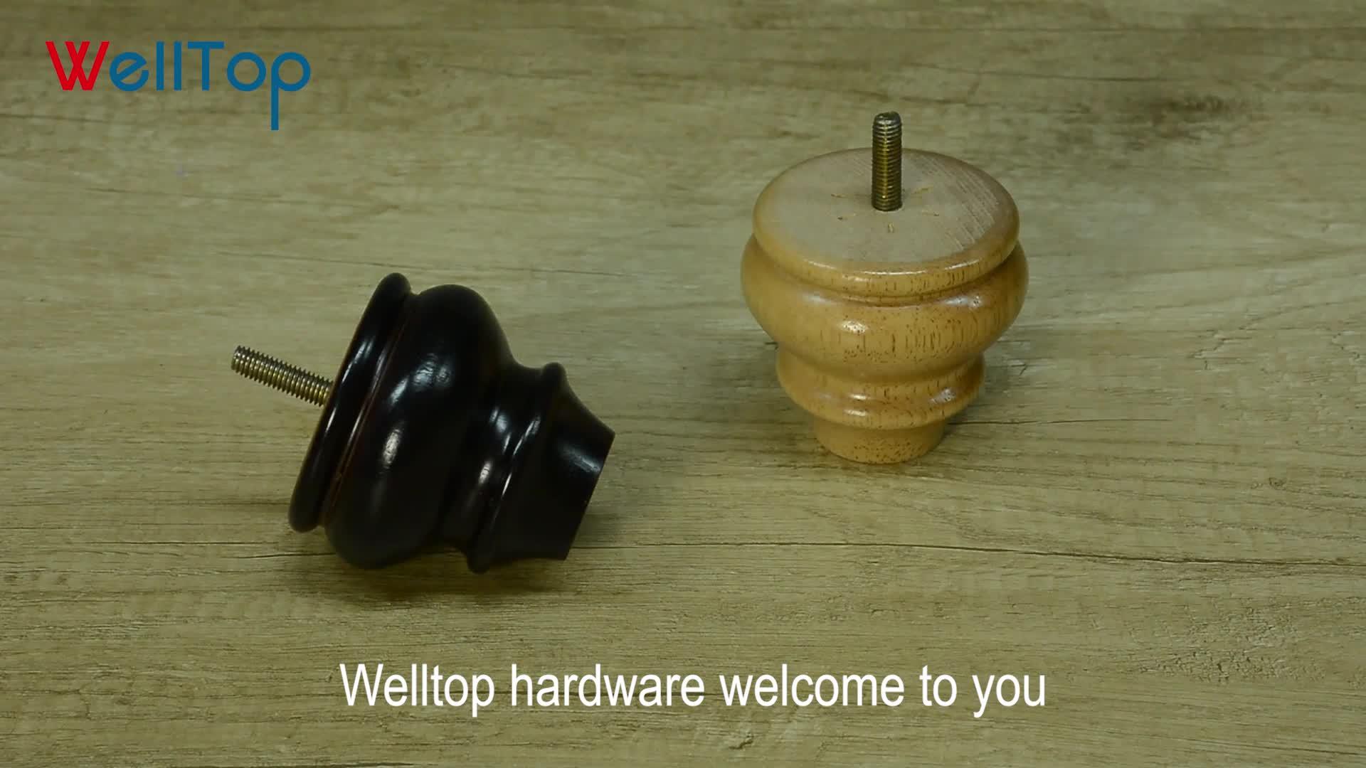 家具キャビネット未完成の木製の彫刻木製テーブル脚 VT-17.010