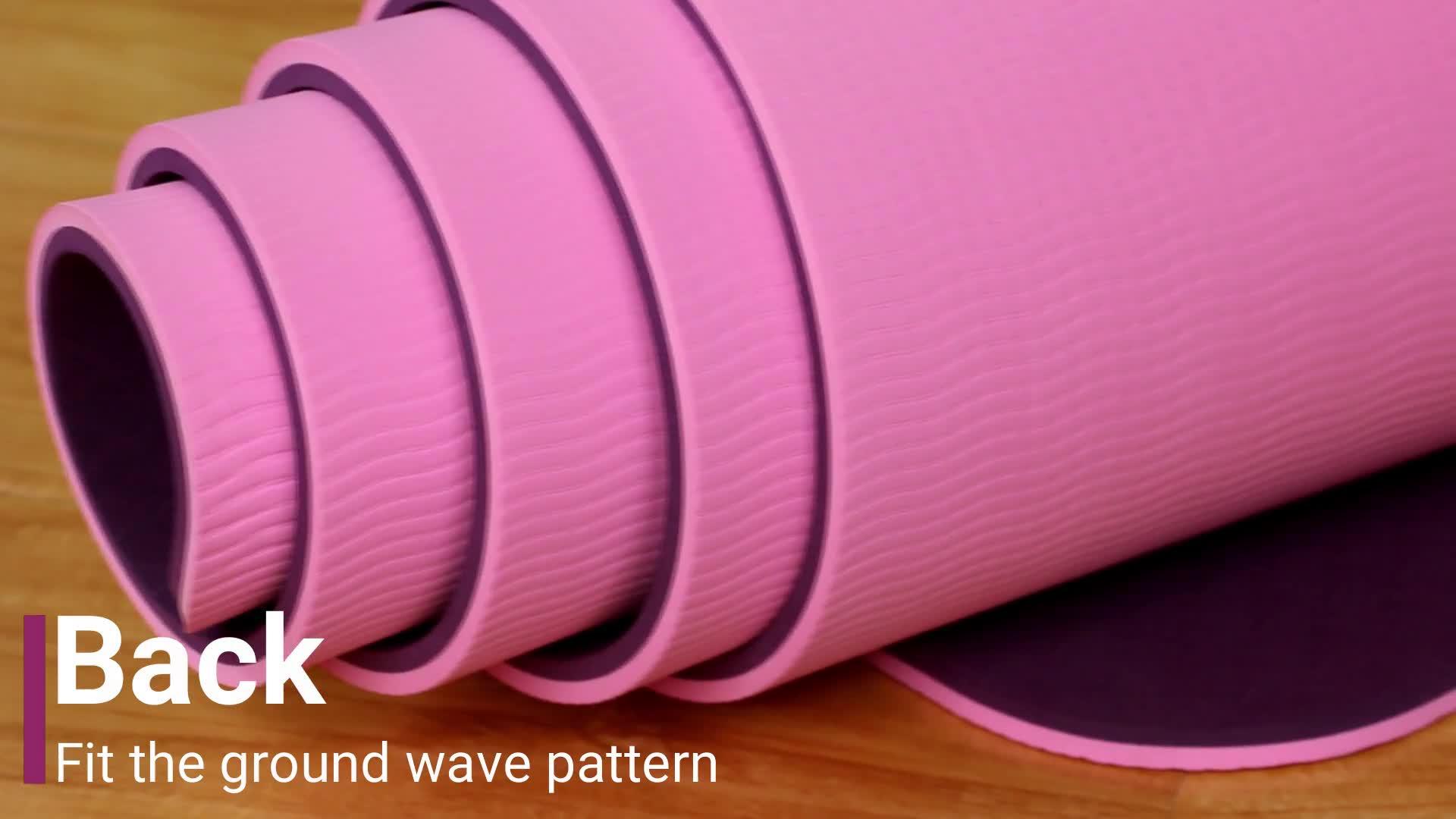 Yoga pilates exercício grosso grande esteiras da ioga do tpe tapete de yoga impresso personalizado