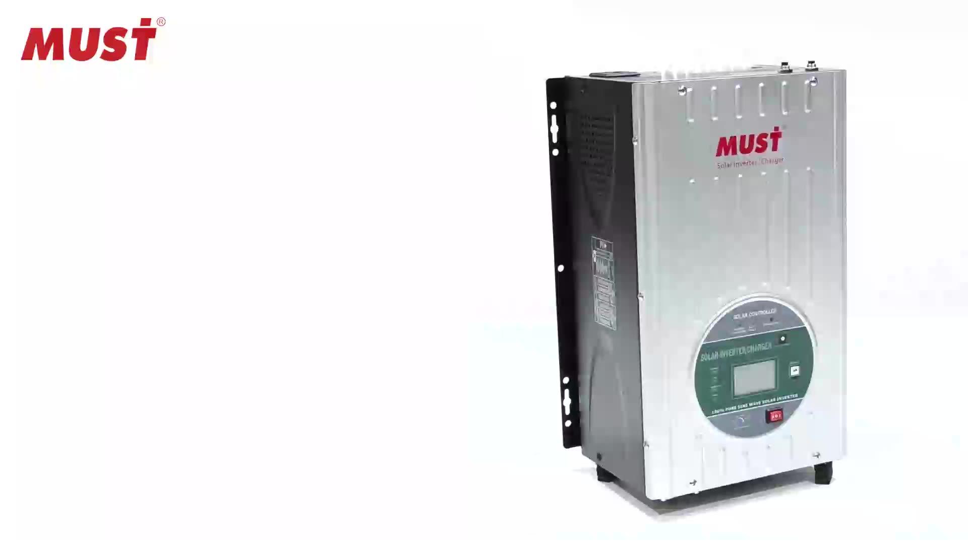 Inverter Daya Gelombang Sinus Murni Off Grid, Inverter Daya 12V 220V 1KW 3KW 5KW 6KW 8KW 10KW