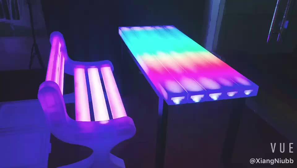 2020 नई उत्पाद रंगीन सजावटी कुर्सी, उद्यान निविड़ अंधकार वजन बेंच प्रबुद्ध एलईडी गार्डन कुर्सी