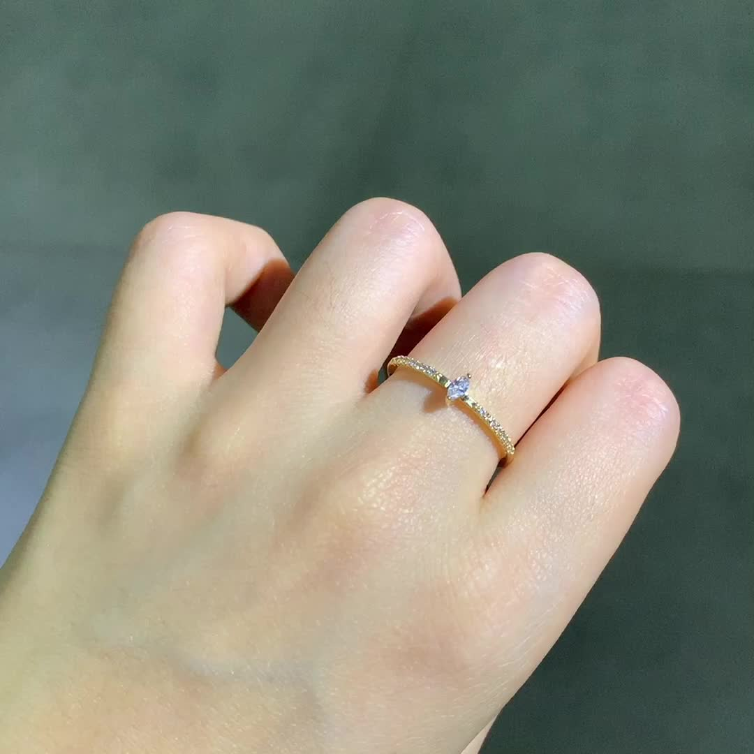 Excellent Diamond Jewelry With Real Gold 18k Baguette Cut Diamond Engagement Ring For Women