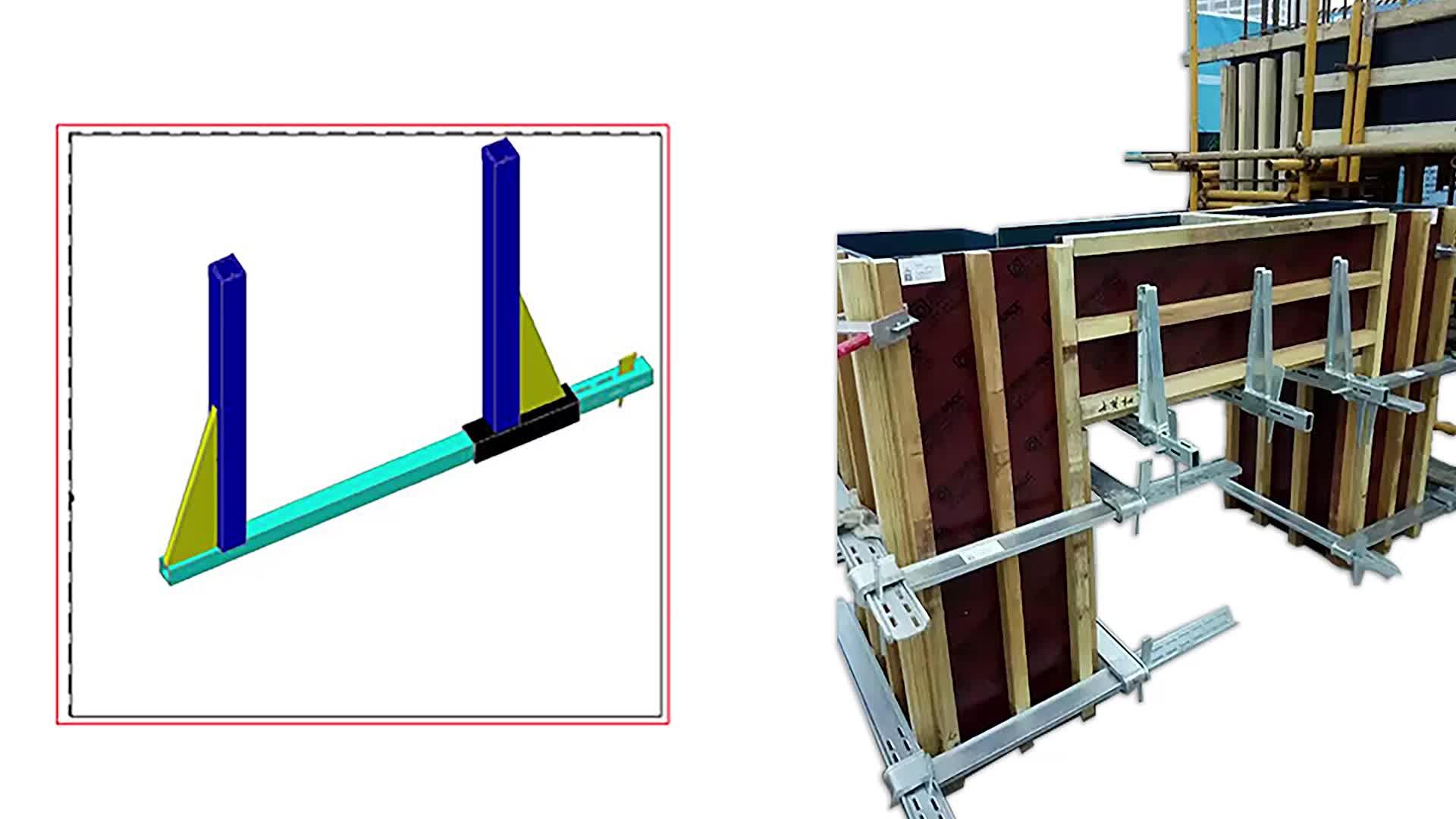 المجلفن قابل للتعديل مشابك بذراع متذبذب لبناء الخرسانة