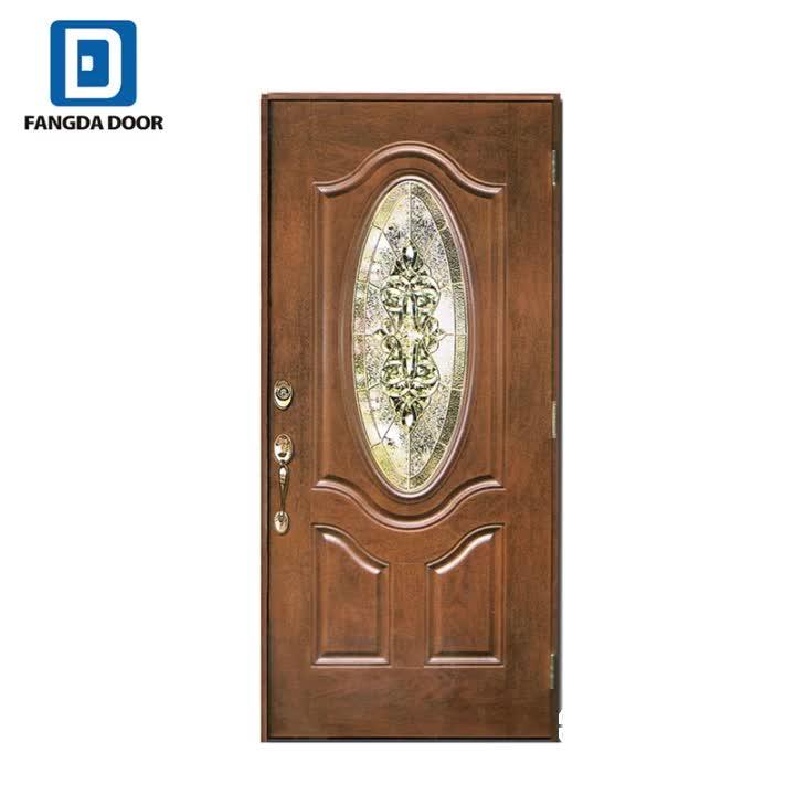 Fangda ต่ำสุดราคาเหล็กประตูดีกว่า wpc ประตู