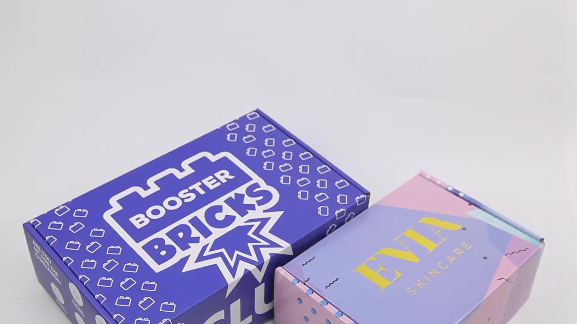 Wholesale custom printed unique corrugated shipping boxes custom logo cardboard mailer box