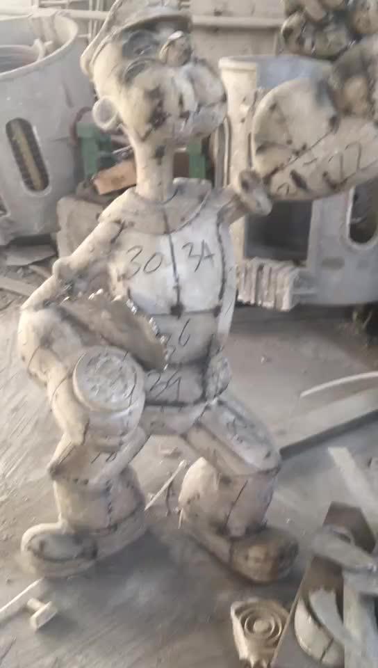 Moderne de personnage de dessin animé de film 304 poli en acier inoxydable jeff koons popeye sculpture d'art pour le décor extérieur SSD-129