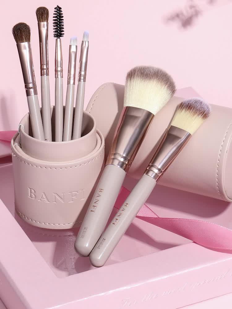 banfi Cheap classical makeup brush women soft synthetic hair beauty  7pcs cosmetic kit makeup brushes sets tools