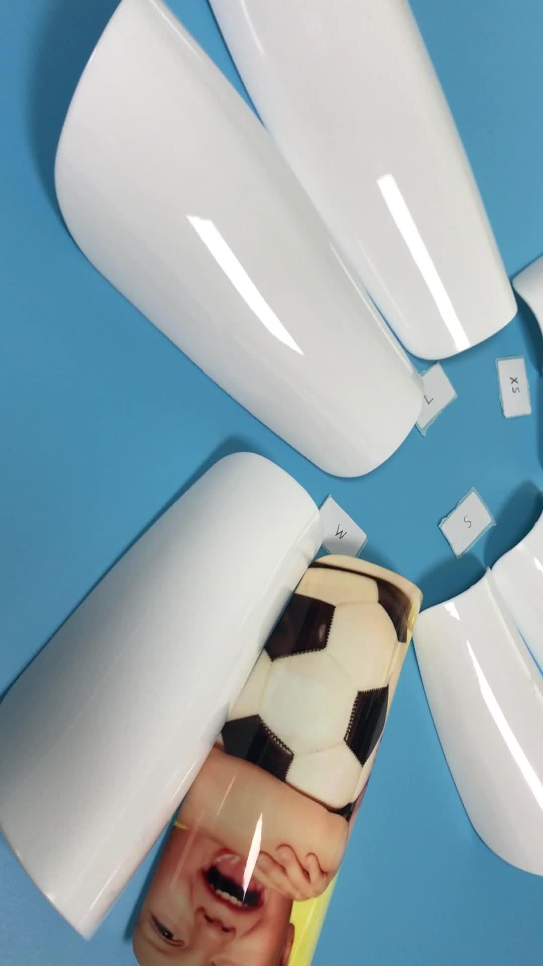 Yetişkin Çocuk Süblimasyon Futbol tekmelikler Bacak Pedleri