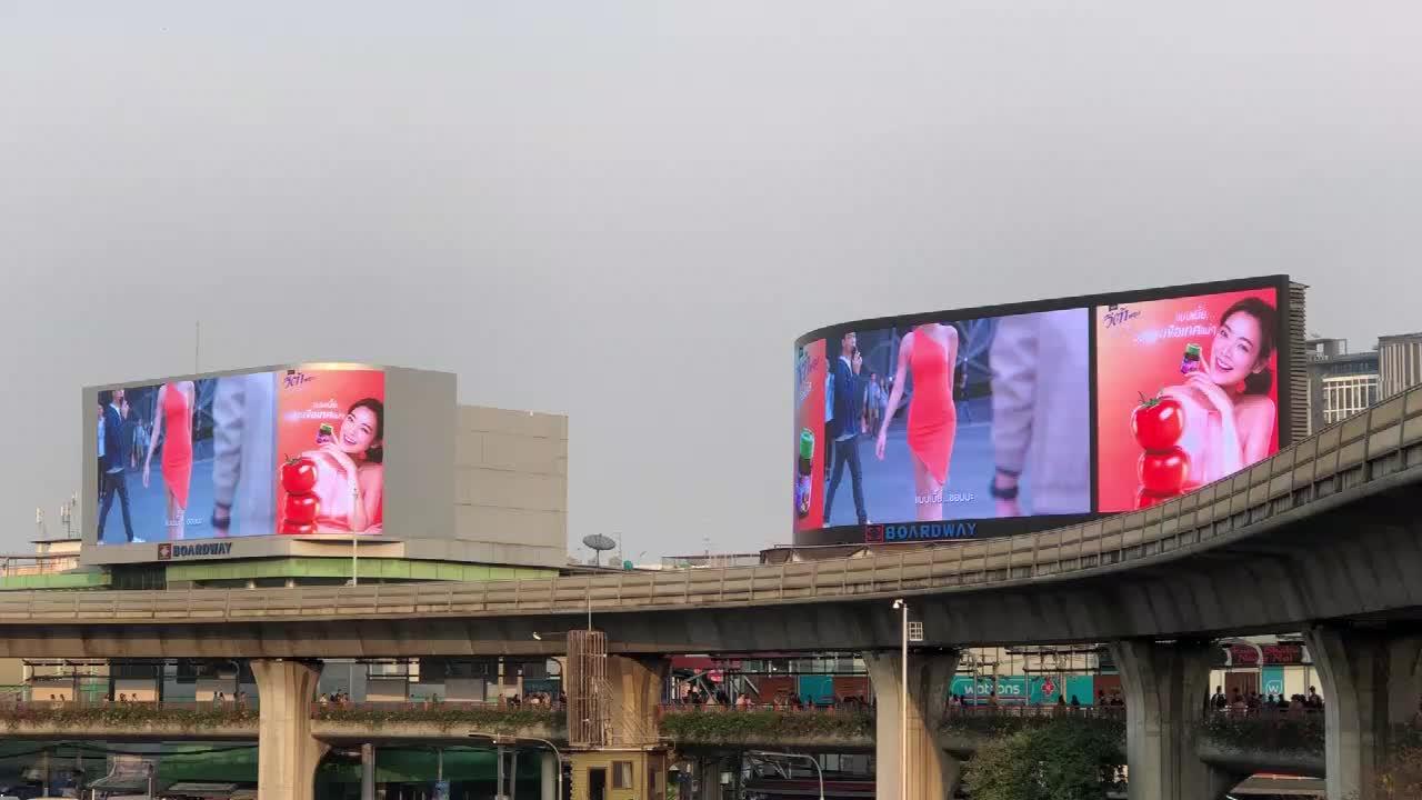 Tam renkli P10 Billboard Video duvar açık ticari reklam için