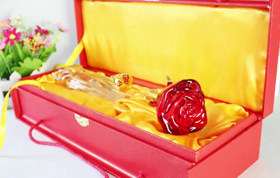 Wholesale  Different Color Crystal Rose Flower for Wedding And Souvenir Gift