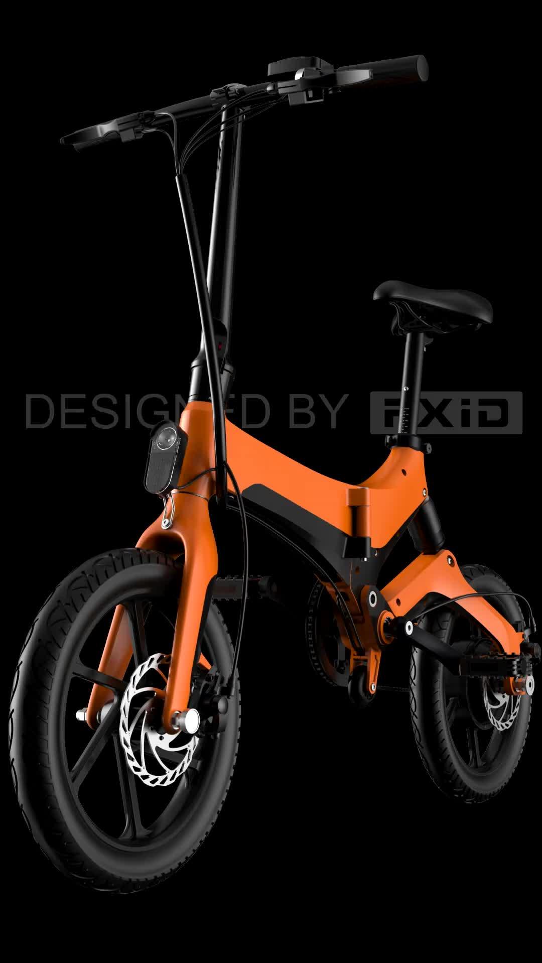 2019 Hợp Kim Magiê Bicicletas Elctricas Xe Đạp Điện Xe Đạp 16 Inch E-Xe Đạp 250W Động Cơ E Xe Đạp Gấp Ebike