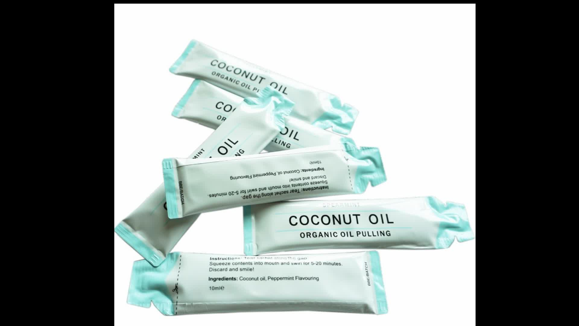 The Coconut Oil Pulling Teeth Whitening Mint Flavor Natural Magic