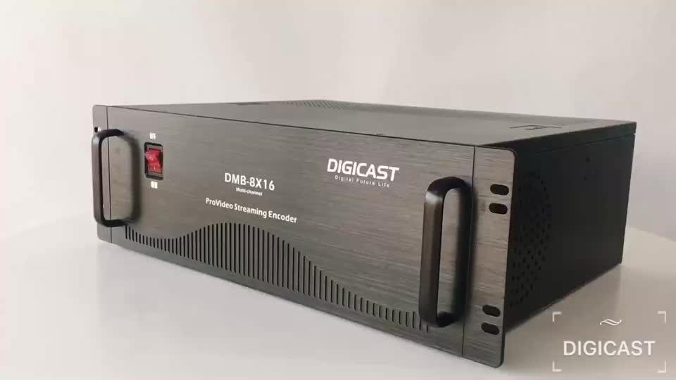 H265 HEVC HD MI/AV/VGA/YPbPr Iptv サーバ HD エンコーダ SDI 16 チャンネルビデオストリーミングサーバ