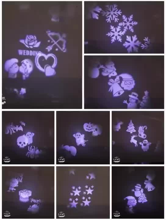 Wasserdicht weihnachten projektion licht led rasen projektor garten lampe festival party dekoration beleuchtung