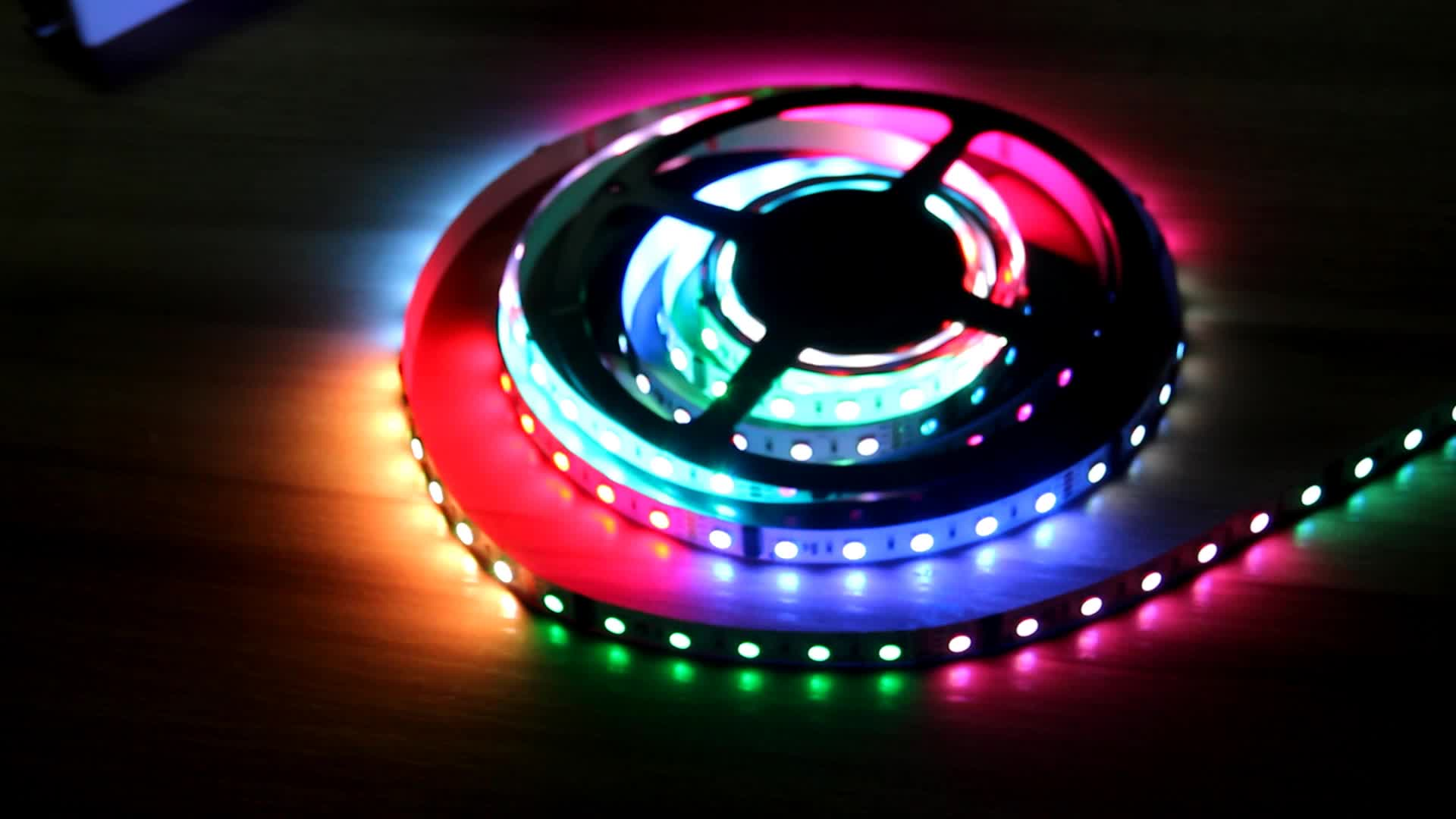 12V 24V RGB Individually Addressable Led Strip Lights