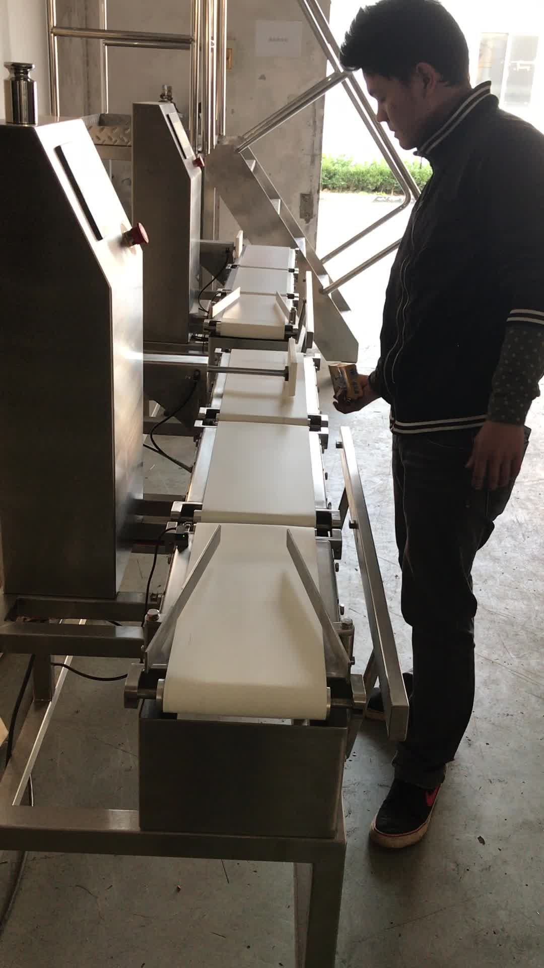 Conveyor belt automatic online check weigher for feed , chemical , food packing line
