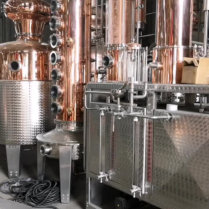best selling red copper steam heating alcohol distillation equipment