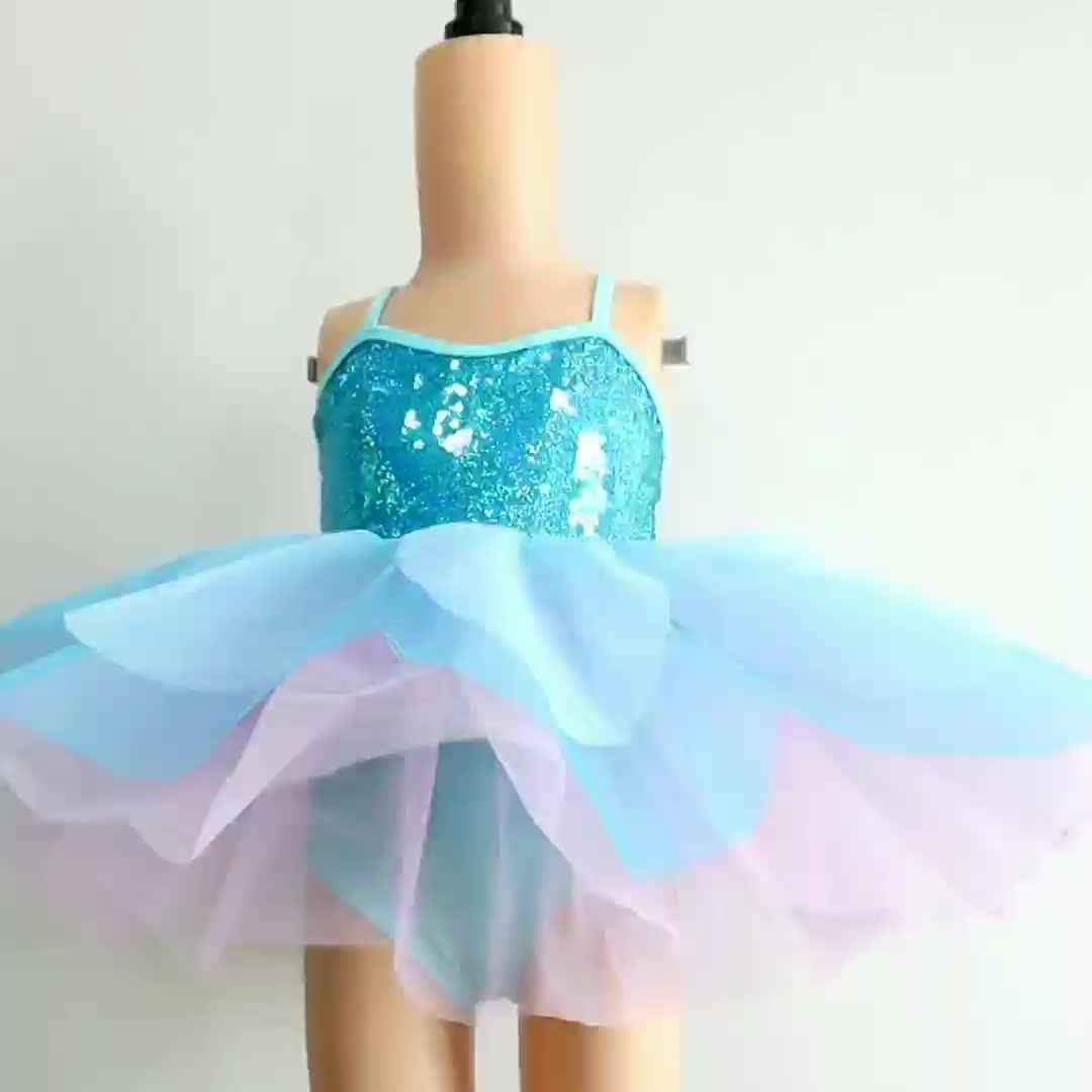 DL029 青ハロウィン子供衣装卸売ショーダンスの摩耗