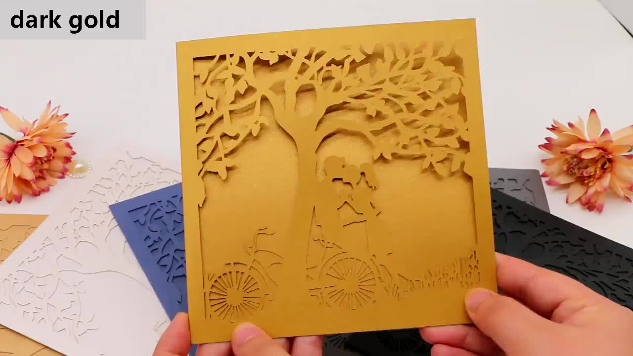 factory direct selling personalized laser cut carved tree