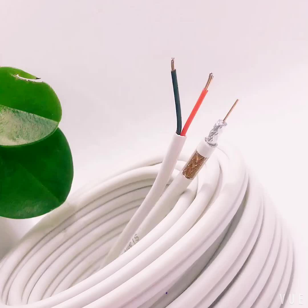 75Ohm RG6 CCTV Cable RG6 + 2C 힘 Cable