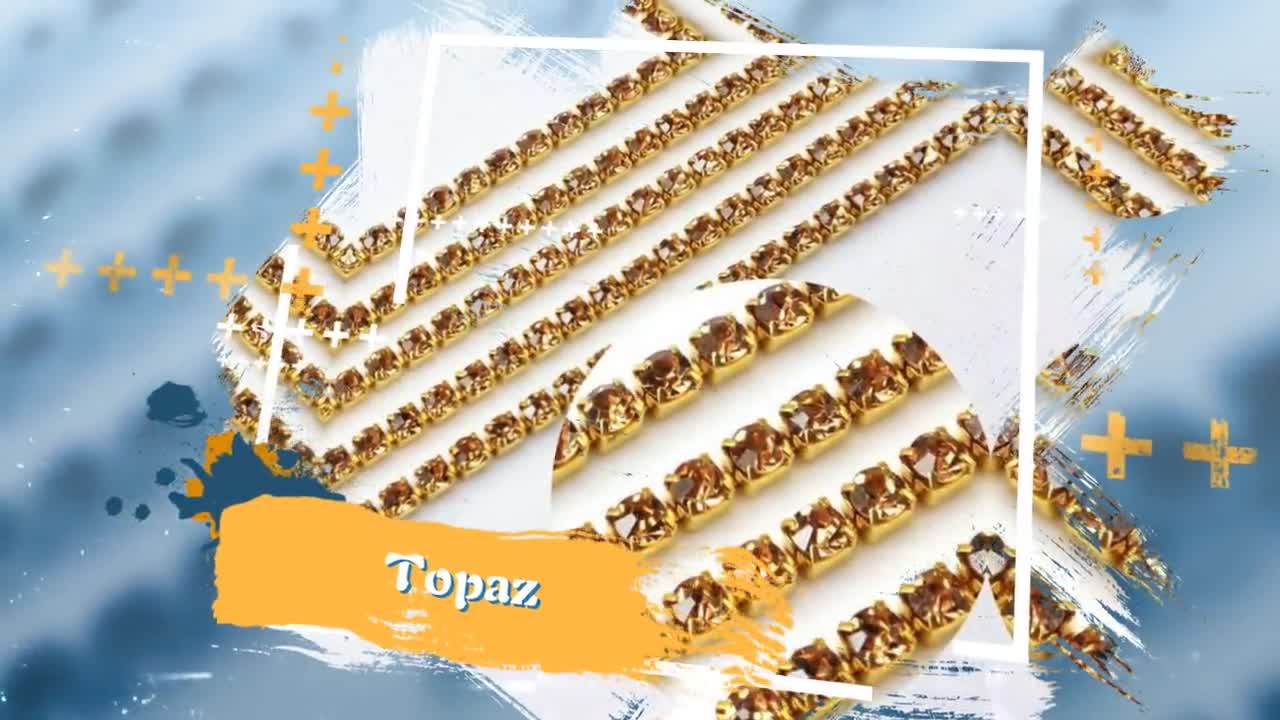 Shinny AAA Quality Cup Colored Chain For Jewelry In Rhinestones