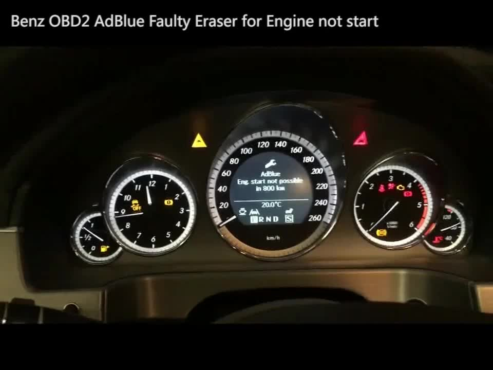 Dealer wanted Plug and Play new mercedes Bluetec diesel engines adblue faulty eraser via obd2