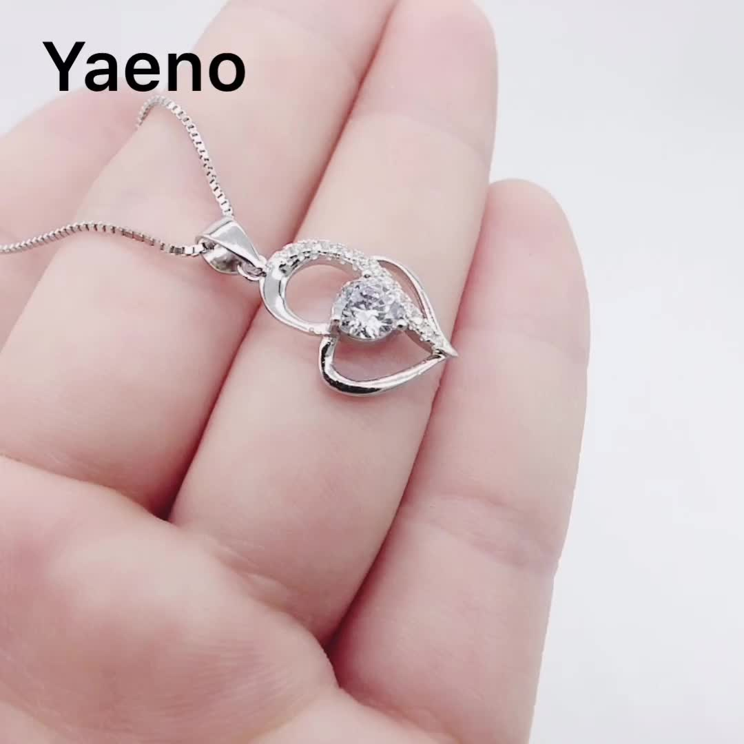 Wholesale Hot Design Jewelry 925 Sterling Silver Heart Pendant Necklace for Women
