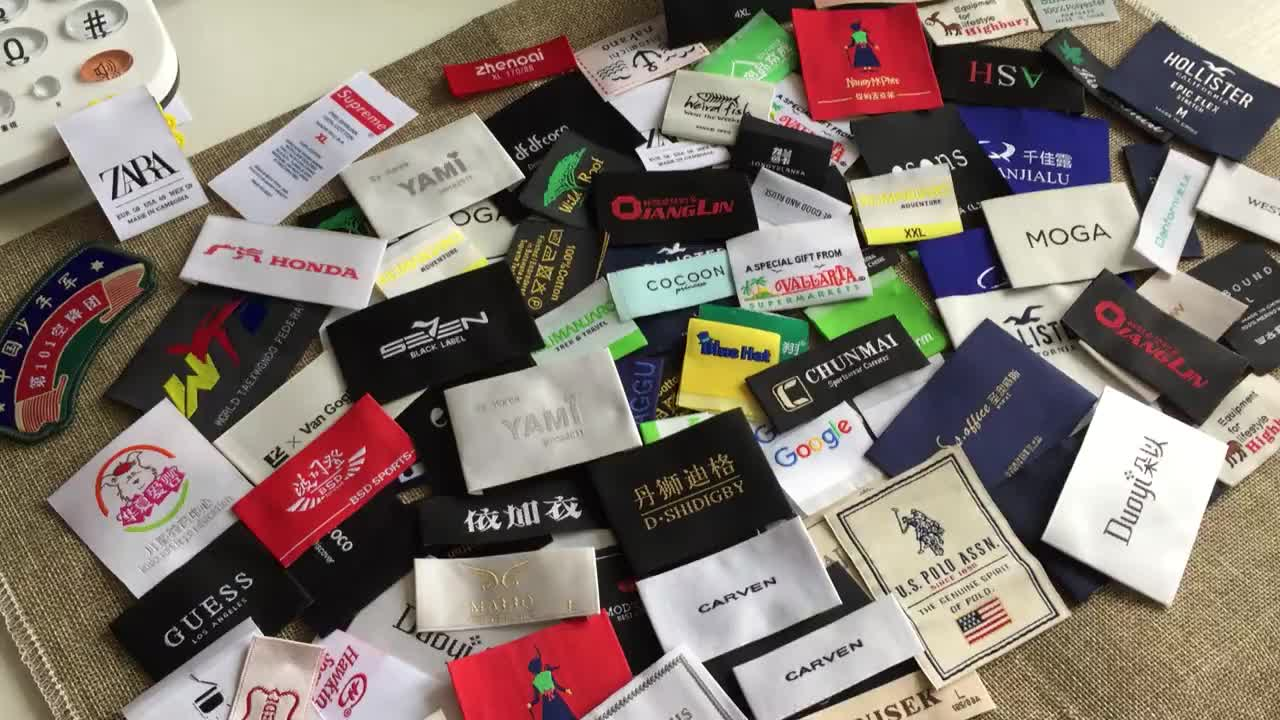 Best quality soft woven labels custom made with your logo, Cheap clothing labels custom woven, woven custom labels