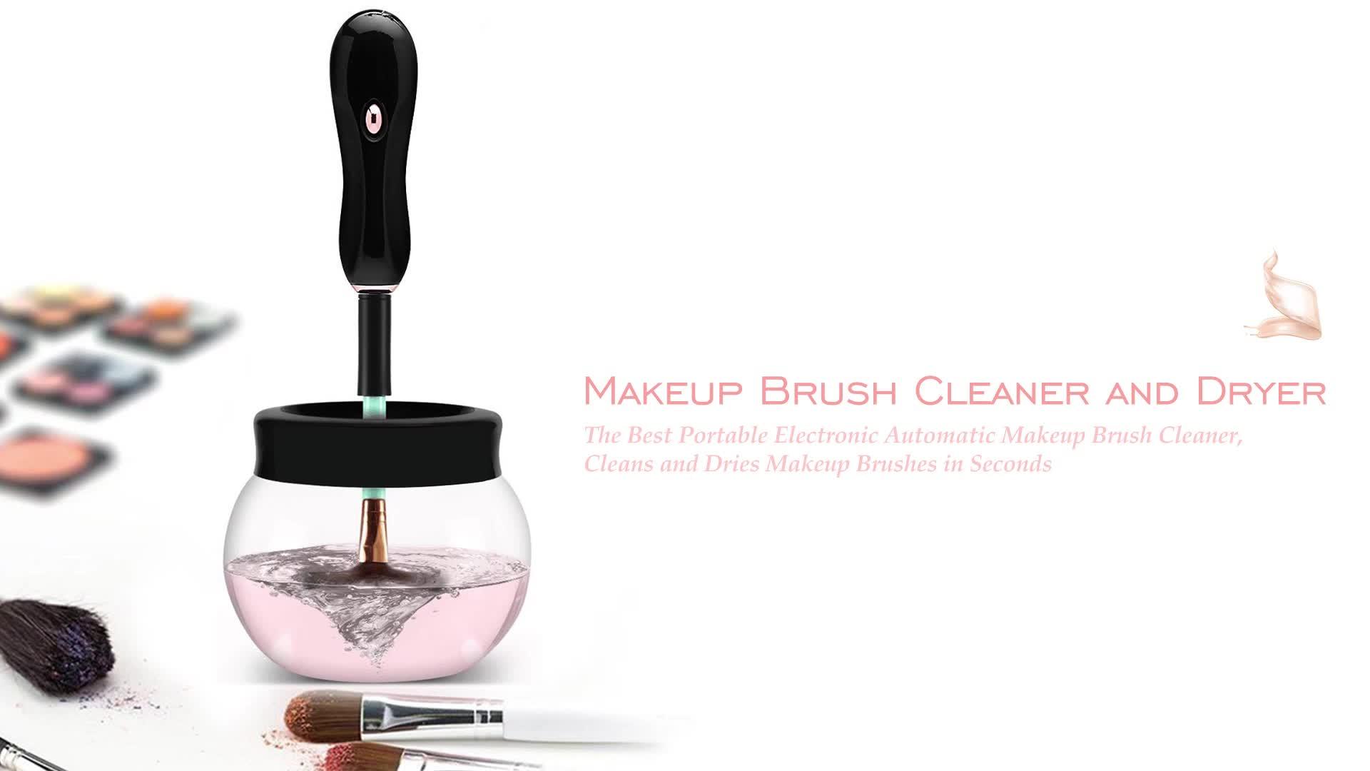Sikat Pembersih dan Pengering Makeup Otomatis Elektrik Label Pribadi