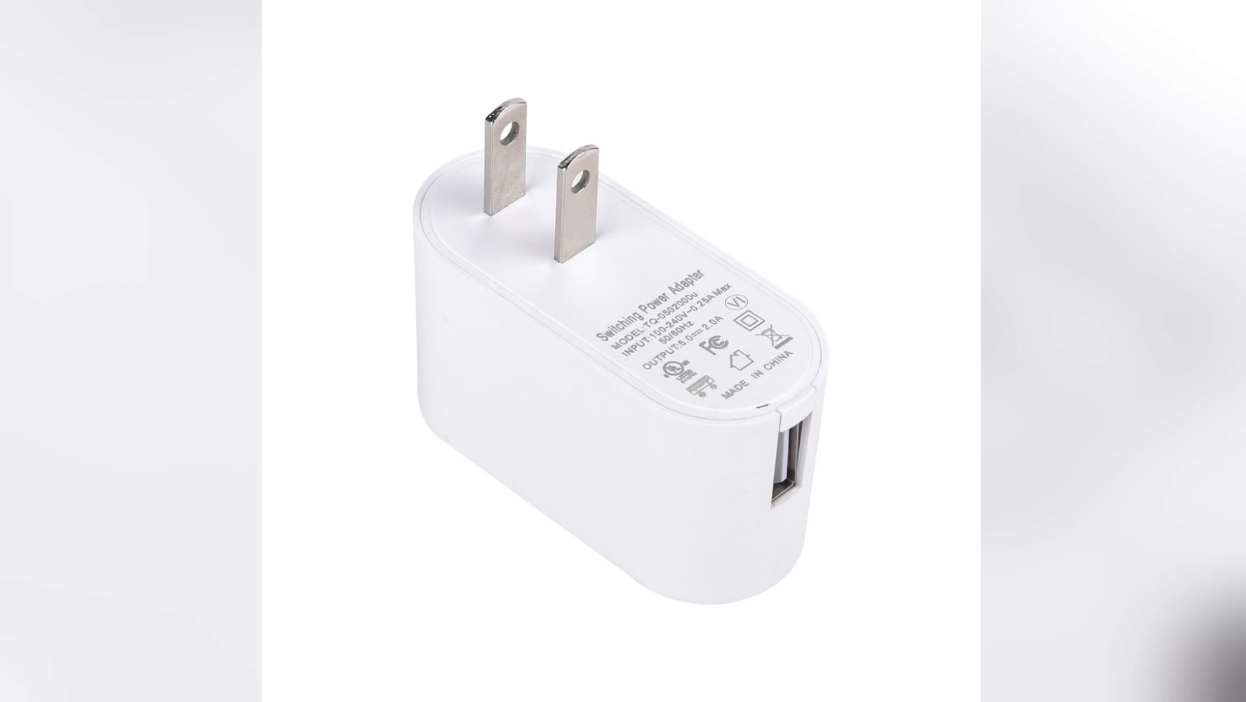 usb wall charger eu plug /usb charger adapter 5v 0.5a ,1a ,1.5a ,2a 2.4a