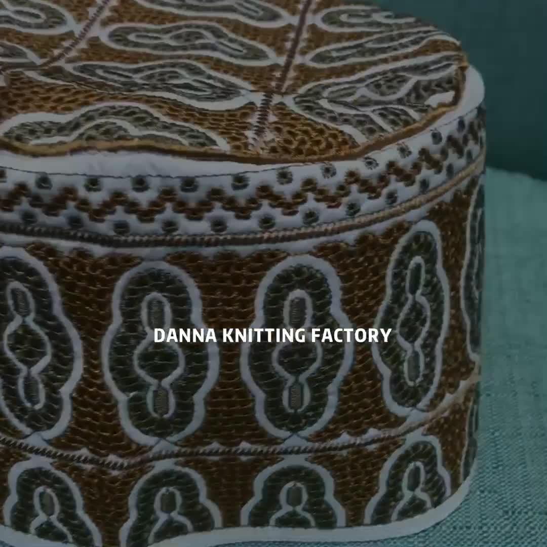 Handmaking Men Prayer Cap New Design Embroidery Omani Cap