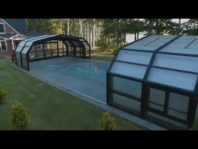 CAYOE Aluminium Sliding Swimming Pool Enclosures Sunroom