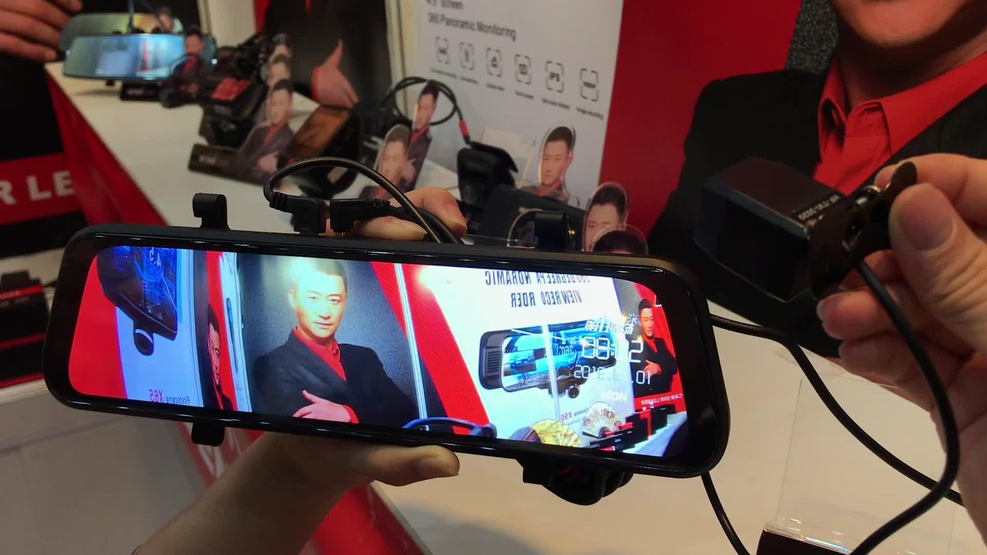 ホットな Firstscene V3 ADAS 10 インチメディア Dashcam ストリーミング時間経過記録