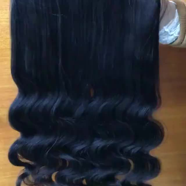 Wholesale ear to ear lace frontal peruvian water wave human hair 360 degree closure