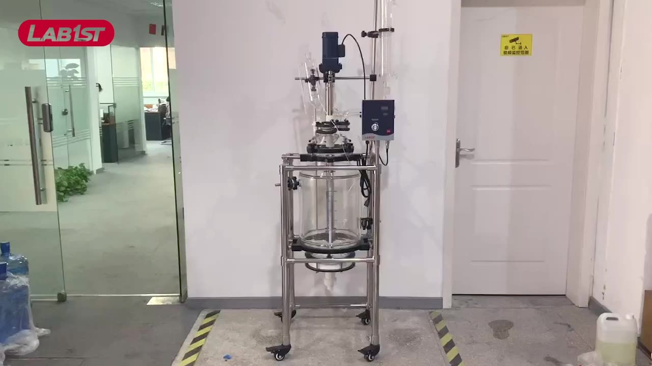 Crystallization Jacketed Glass Reactor 10L to 200L