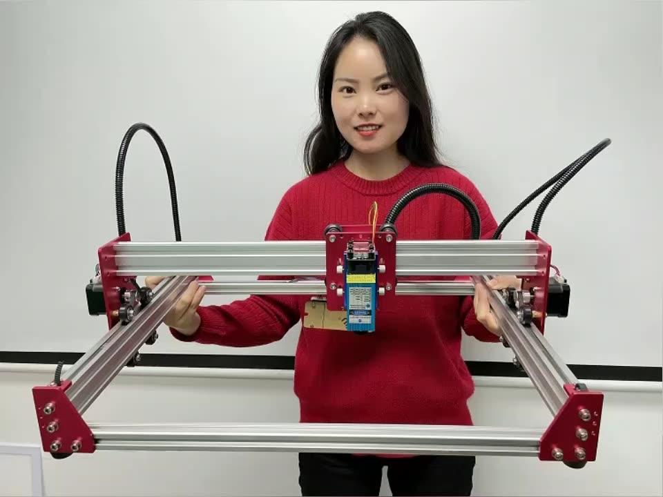 Lunyee مصغرة 2 محور 0.5W-15W DIY جهاز توجيه الخشب CNC ماكينة الحفر بالليزر
