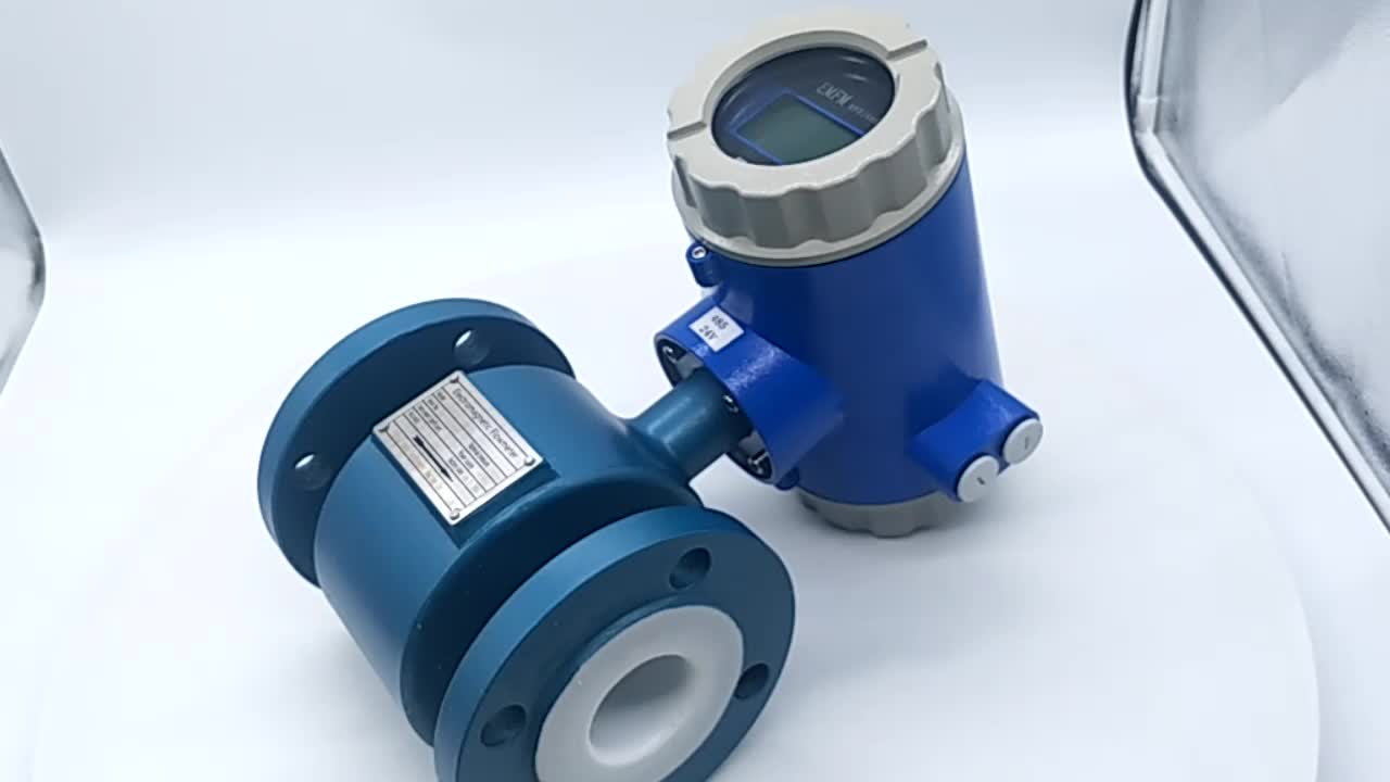 Auto Digital Electromagnetic Flow Meter Sanitary Magnetic Flowmeter untuk Bir Dibuat Di Cina