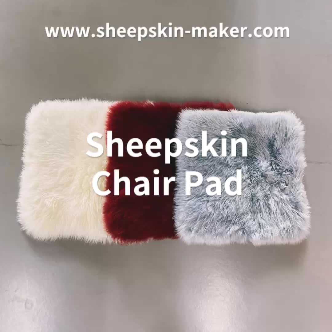 Sheepskin Car Interior Seat Covers, Soft Luxurious Genuine Wool Seat Cushion Pad Winter Mat Universal Fit Comfort in Auto, Plane