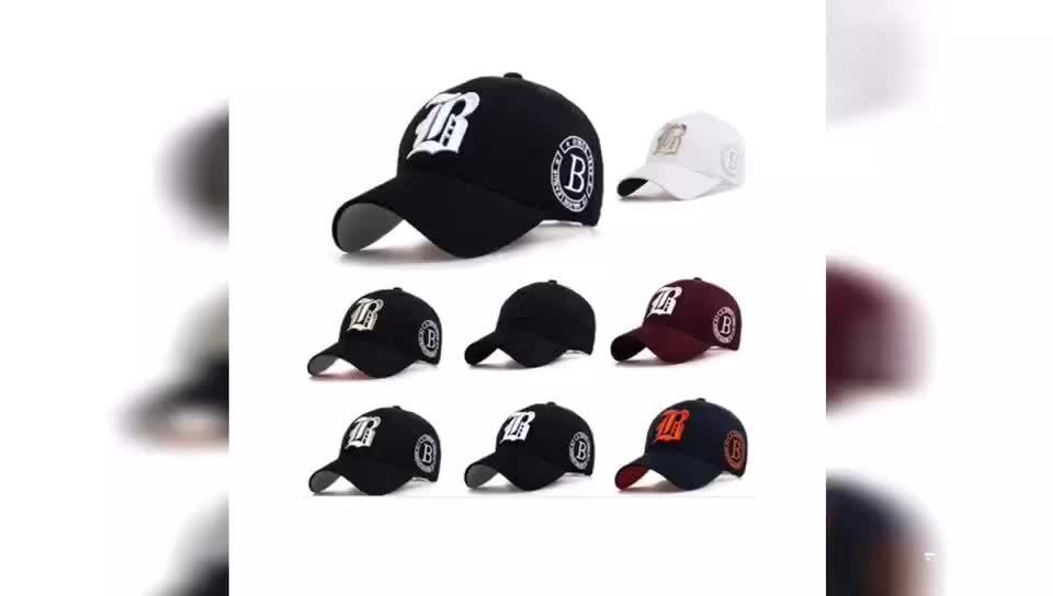 2019 OEM özel yüksek kalite 6 panel 3d nakışlı logo beyzbol şapkası ve şapka