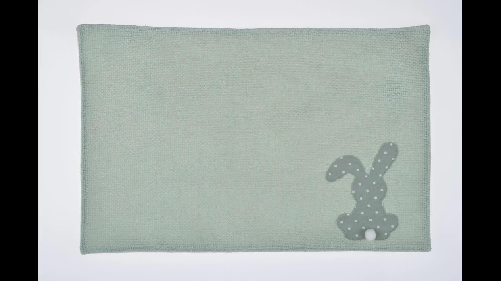 Nuovo prodotto in cina decorazione di pasqua coniglio garland bunting bandiere personalizzabile nursery decor tessuto bunting banner