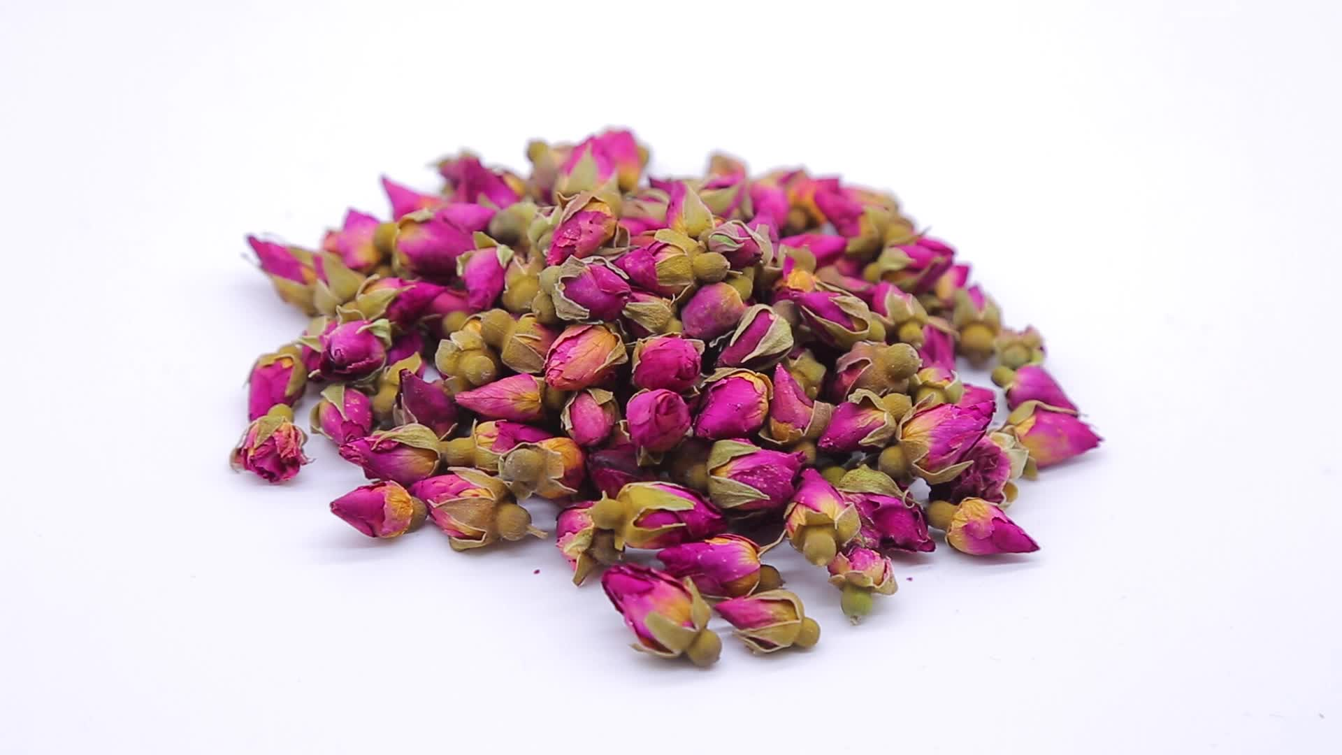 Buy Organic Dried Pink Flowers Dried Roses Small Rose Buds for Tea/kushui Rose Essence Flower Bud Herbal Tea Wholesale Supplie