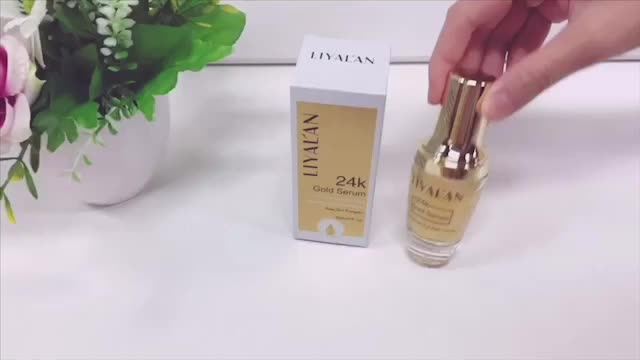 Anti-wrinkle Private Label Anti-Wrinkle Reduce Fine Lines Refreshing 24K Gold Vitamin C serum