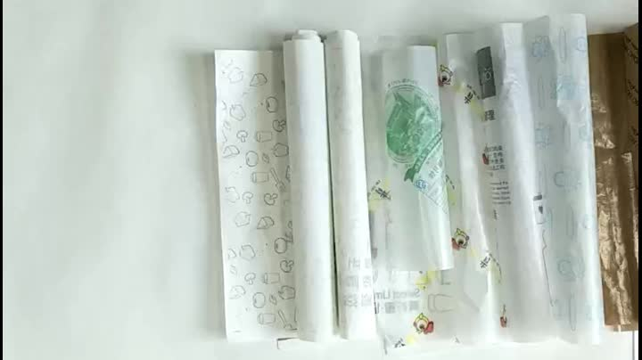 custom printed sandwich grease proof packaging food hamburger wrapping paper bolsas de papel