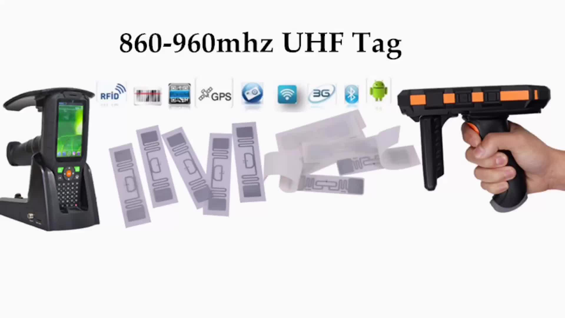 134.2kHz FDX-B and HDX Android RFID Reader for Animal tags