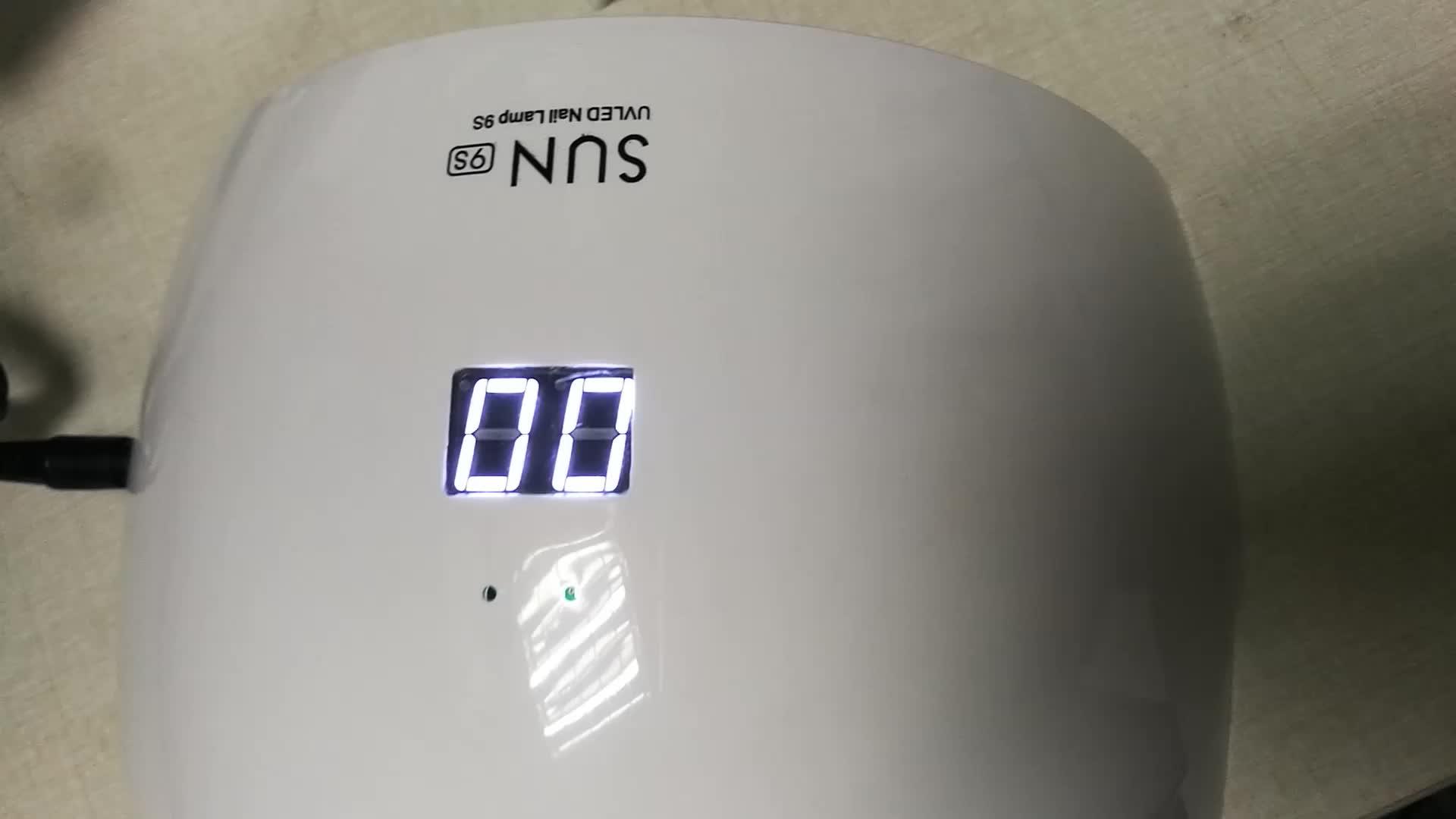 china segway SUN9C 9S Nail Dryer Lamp 24W UV LED Nail Lamp for Polish Glue Nail Gel UV Curing Lamp Infrared Sensor